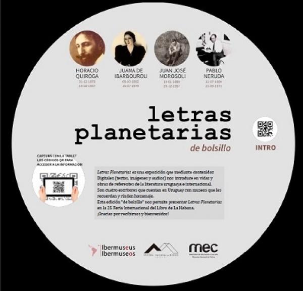 Exposición Letras Planetarias se presenta en la Feria Internacional del Libro de La Habana.